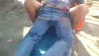 South Indian outdoor mms clip of village bhabhi fucked by neighbor