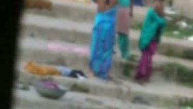 Local Desi Girls Taking Bath Outdoor