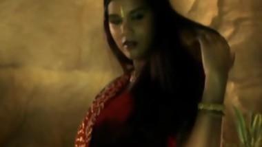 A Beautiful Indian Brunette Dance Gracefully