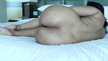 Showing her big ass nude