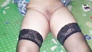 Indian Bengali Wife Jeanette in stockings spreading pussy