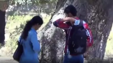 Indian college couple outdoor hidden cam sex