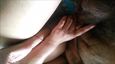 indian couple boob suck and penis play
