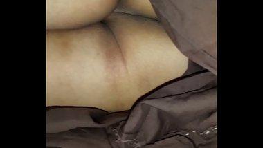 Ass hole flash for Desi aunty