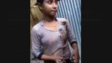 Bangladeshi Village Girl After Bath Showing For Lover