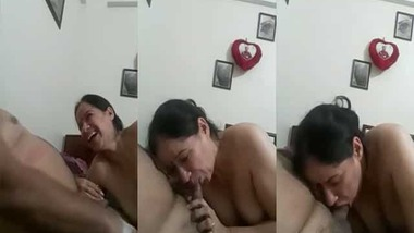 Mature Hindi blowjob MMS video