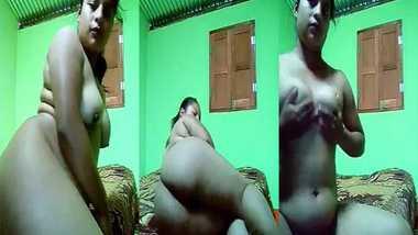 Big ass girl nude selfie MMS video