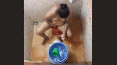 Bhabhi Bathing Capture By Hidden Cam