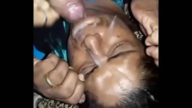 Indian aunty cum facial sex video