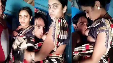 Bhabi boobs sucking by devar! Beautiful desi girl show tits!
