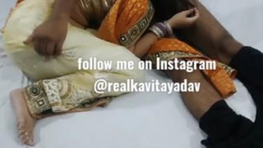 Beautiful Kavita bhabi Fuck and sucking in saree For Money